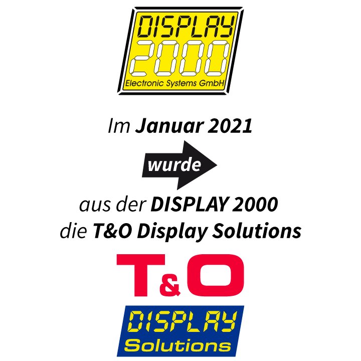 Im Januar 2021 wird aus der DISPLAY 2000 die T&O Display Solutions